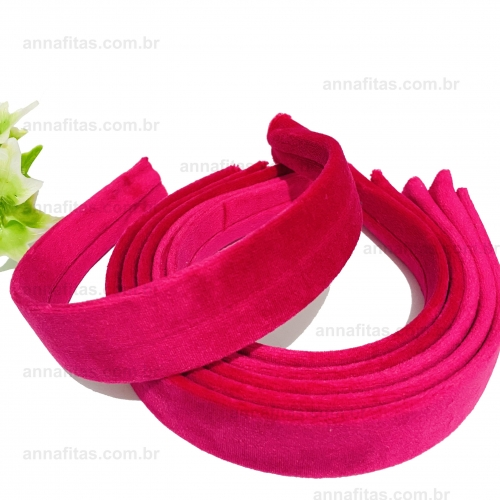 Tiara de Veludo de 3cm por unidade cor ROSA PINK