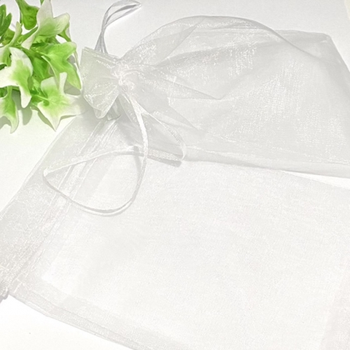Saco de Organza 12 x 17cm Branco Pacote com 10 unidades Ref - SO1217B