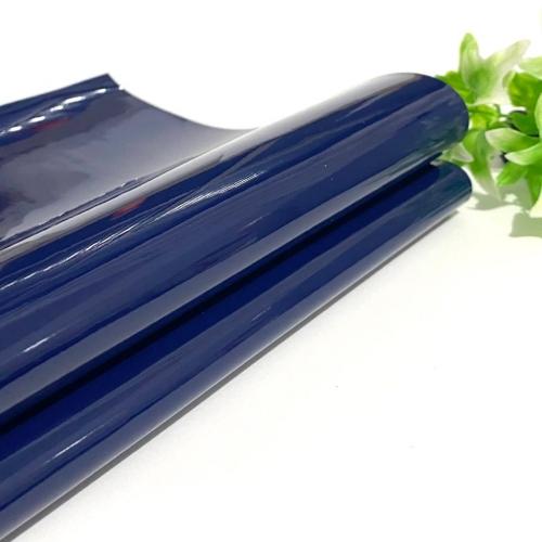 Lonita couro ecológico Verniz cor AZUL MARINHO 24 por 40 cm Cor: 47