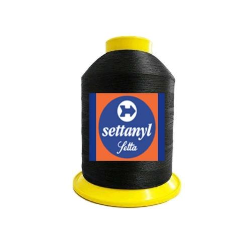 Linha Settanyl Nylon Forte Plastificado 100% Poliamida SNYL 60/Tex49 80g Cor 11 - Preta