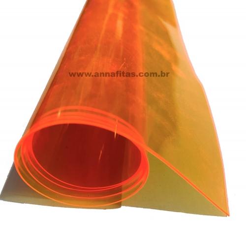 Lonita Cristal cor Laranja Neon 23cm por 40cm a unidade Ref: LCRI001