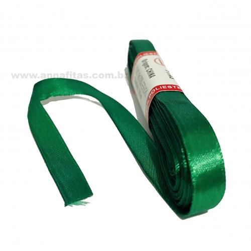 Fita de Cetim Sanding de 10mm com 10 metros Cor- 76 Verde Bandeira