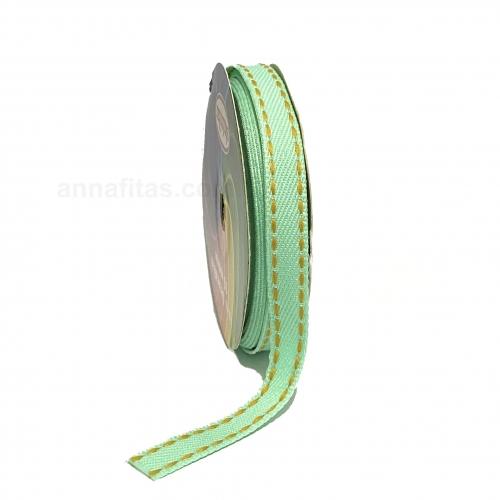 Fita Jeans Pespontada Sinimbu de 10mm Com 10 Metros Ref:1785-10 Cor- 06 Jeans VERDE CLARO