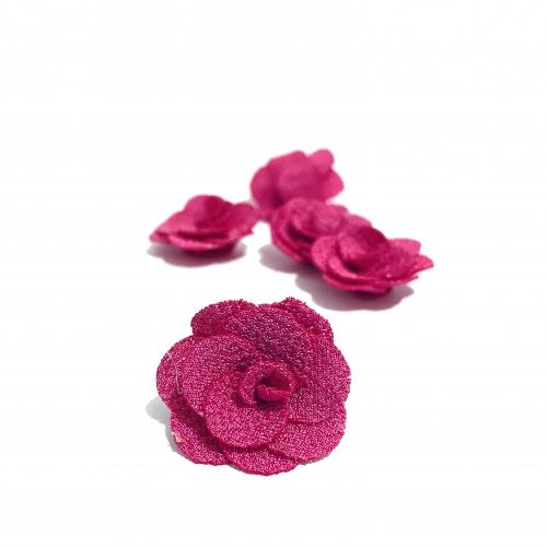 Flor de Tecido ROSA PINK 5 unidades de 3cm  Ref- MFG28