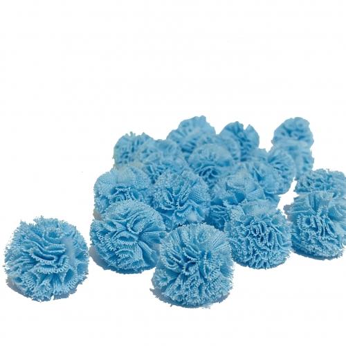 Pompom de Poliéster 2,5cm com 25 Unidades Azul Bebê  Ref: 7