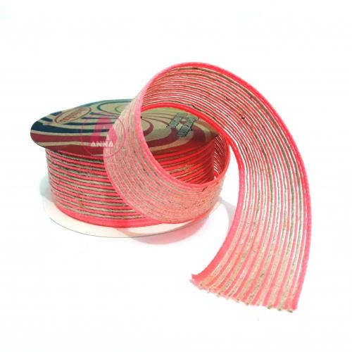 Fita de SISAL SINIMBU de 38mm com 10 Metros Cor- 07 Rosa Neon