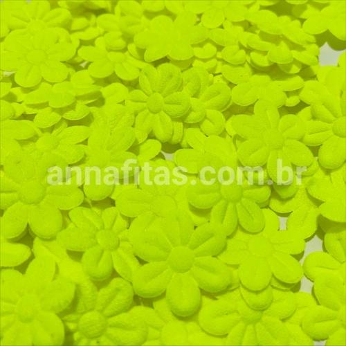 Mini Flor Prensada AMARELO NEON  com 100 unidades de 2cm Ref- MFP113
