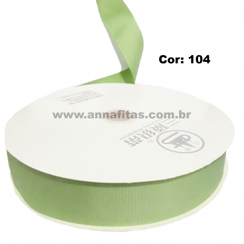 Fita de Gorgurão Sanding de 38mm com 10 Metros, Nº9 Cor - 104 Verde Abacate