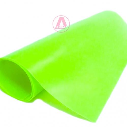 Lonita de Silicone cor  VERDE NEON 23cm por 40cm a unidade