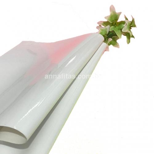 Lonita couro ecológico Verniz cor BRANCA 24 por 40 cm Cor: 51
