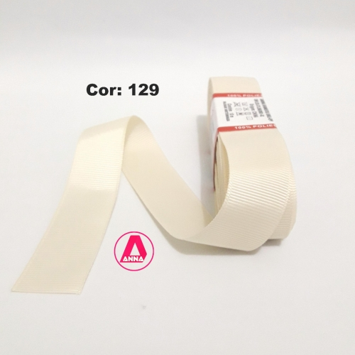 Fita de Gorgurão Sanding de 22mm com 10 Metros, Nº5  Cor - 129