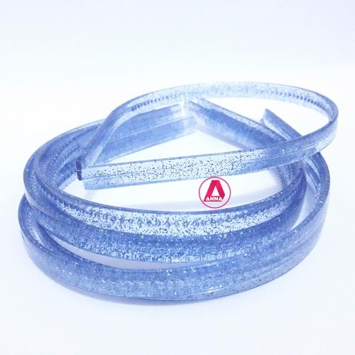 Tiara de dentinho  com brilho, 10mm pacote com 6 Unidades Cor Azul