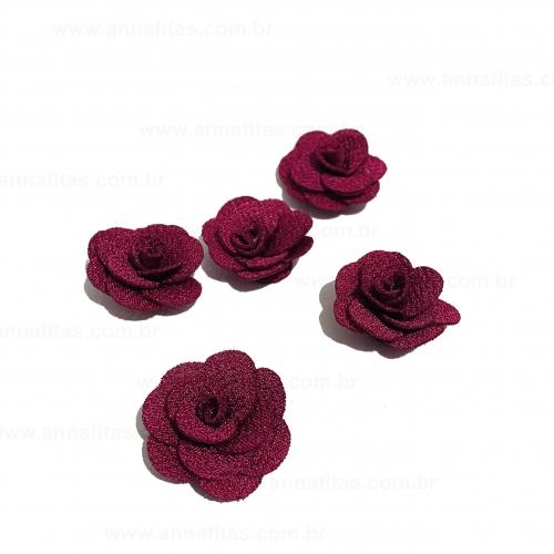 Flor de Tecido MARSALA 5 unidades de 3cm Ref- MFG164