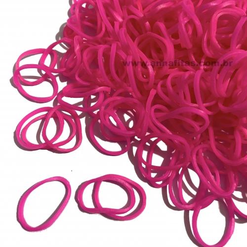 Elásticos para laço Pet cor ROSA PINK de 1,5cm com 50 gramas Pacote aproximadamente 500 unidades