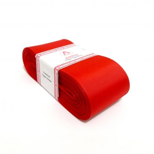 Fita de Gorgurão Sanding de 52mm com 10 Metros, Nº12  Cor - 40 Vermelha