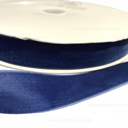 Fita de Veludo Sanding N5 de 22mm 1 metros Cor - 194 Azul Marinho