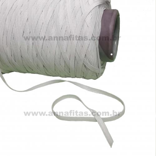 Elástico Chato de 5mm por 1 metro cor BRANCO,  Ideal para fazer Mascaras COVID-19