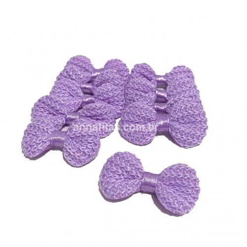 Lacinho de Crochê Melaço 2cm x 4,5cm LILÁS 10 Unidades Cor - 21