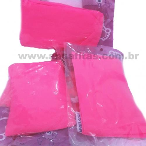 Pacote com 5 Unidade Meia de Seda Passo Fofo Rosa Citrico (Chiclete)  Cor-21