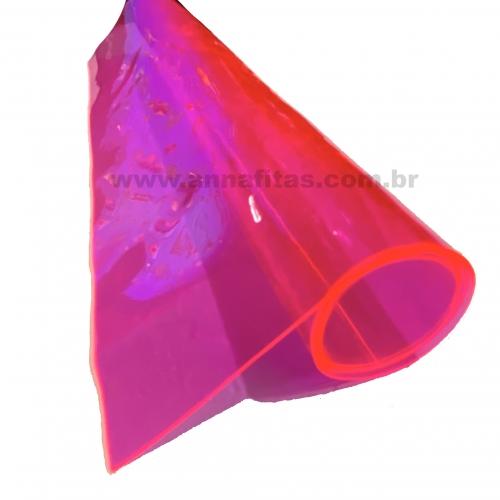 Lonita Cristal cor Rosa Pink Neon 23cm por 40cm a unidade Ref: LCRI002