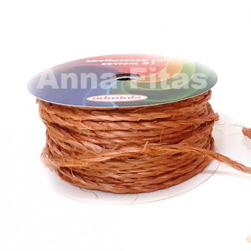Cordão  de Sisal com 10 metros de 2mm sem arame Pitanga