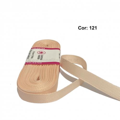 Fita de Gorgurão Sanding de 10mm com 10 Metros, Nº2 Cor -121 Salmão Candy