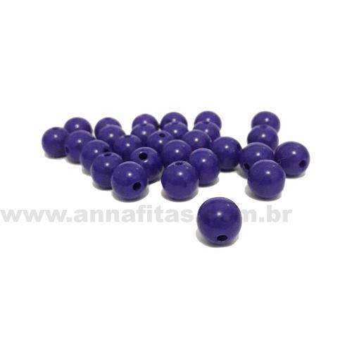 Bolas Leitosas Furo Passante de 8mm, pacote com 50 gramas, Cor- Azul Meia Noite Ref- LS14