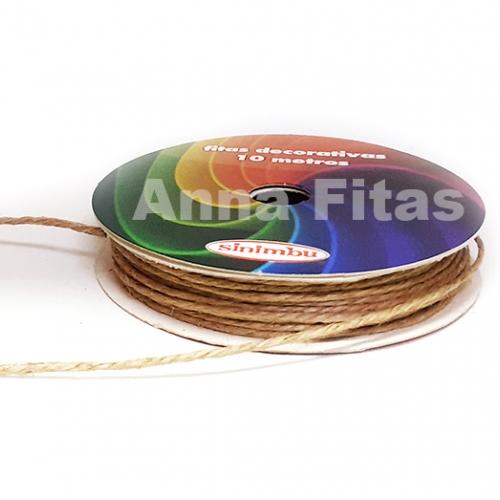 Cordão de Sisal com 10 metros de 2mm sem arame Palha Ref:1649/002