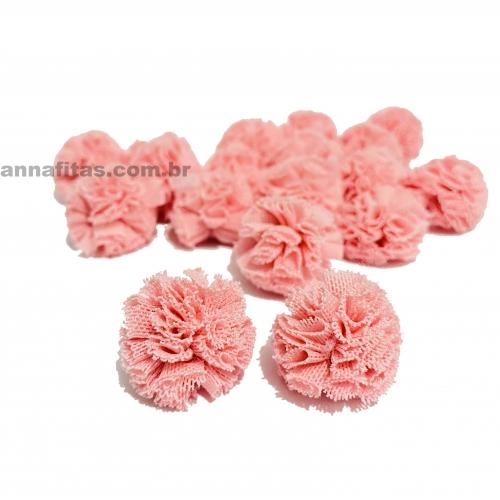 Pompom de Poliéster 2,5cm com 25 Unidades Rosa Bebê  Ref: 8