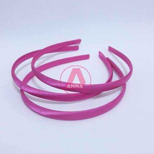 Tiara Cetim Encapada Pink Escuro 10mm Cor-448