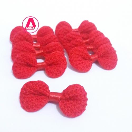 Lacinho de Crochê Melaço VERMELHO  Pacote com 10 Unidades Cor - 26