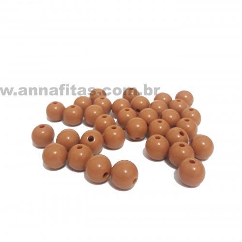 Bolas Leitosas Furo Passante de 8mm, pacote com 50 gramas, Cor- Marron Ref- 19