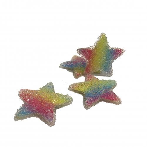 Aplique em Resina Tie Dye ESTRELA  4,2cm  (Por Unidade) Ref: EST3RE