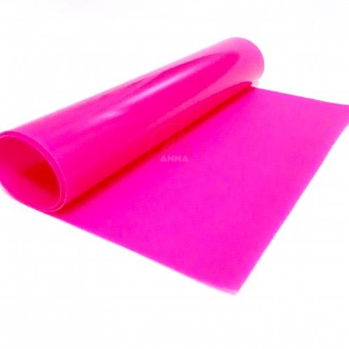 Lonita de Silicone cor Rosa Pink Citríco 23cm por 40cm a unidade