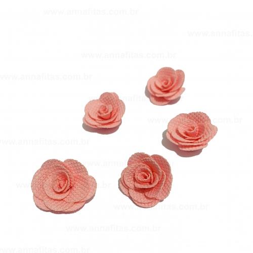 Flor de Tecido ROSA 5 unidades de 3cm Ref- MFG246