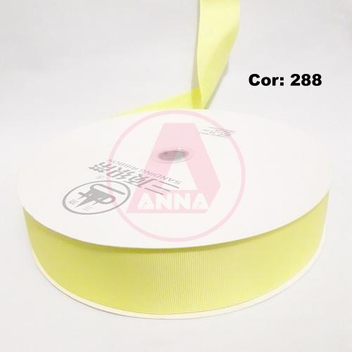 Fita Gorgorão Sanding 38 Milimetro com 10 metros de Comprimento Cor - 288 Amarelo Claro