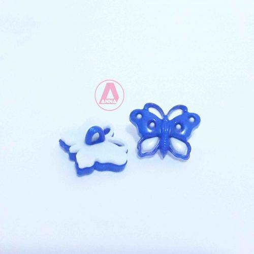 Botão Para Aplique Borboleta Azul /  Tamanho 11,05 mm a Unidade Cor -  207