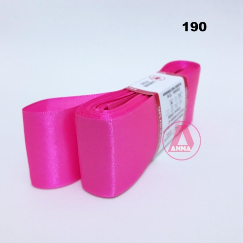 Fita de Cetim Sanding de 38mm Com 10 metros Cor- 190 Rosa Pink