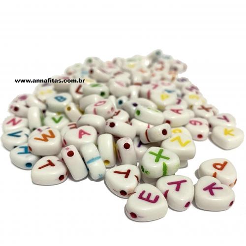 Entremeio Coração com letras em plástico 10mm com 50g Ref: ENT51