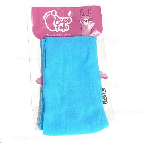 Meia de Seda Passo Fofo Azul Celeste Unidade Cor-48