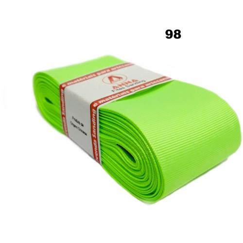 Fita de Gorgurão Sanding de 52mm com 10 Metros, Nº12  Cor-98 Verde Neon