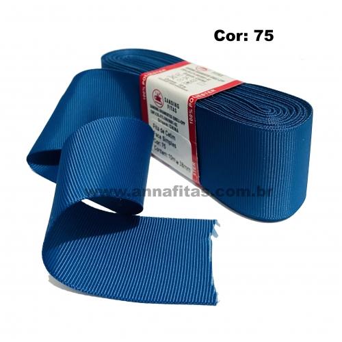 Fita de Gorgurão Sanding de 38mm com 10 Metros, Nº9 Cor - 75 Azul Jeans