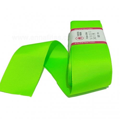 Fita de Gorgurão Sanding de 38mm com 10 Metros, Nº9 Cor - 100  Verde Neon