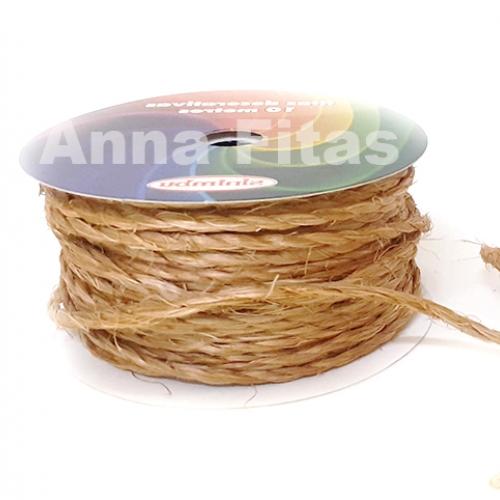 Cordão de Sisal com 10 metros de 2mm sem arame Palha