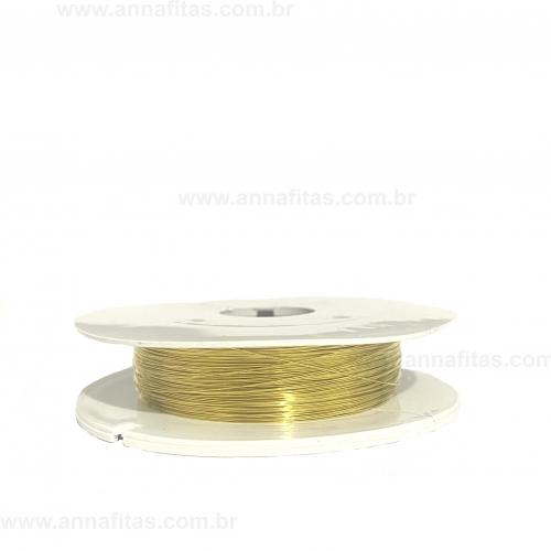 Fio Cabelo de Anjo de 0,2mm com 50 metros Dourado Ref - FCA02D