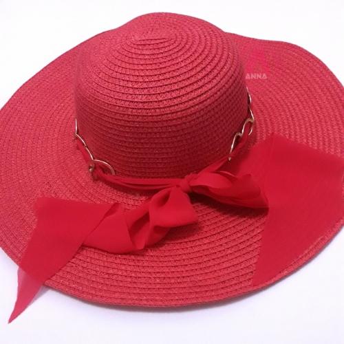 Chapéu de Praia feminino Vermelho