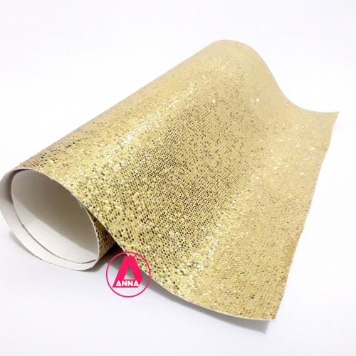 Lonita Brilhosa Dourada 24 por 40 cm Ref:24