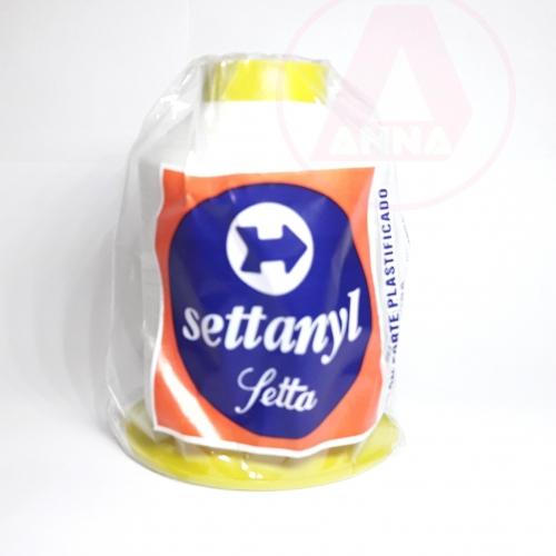 Linha Settanyl Nylon Forte Plastificado 100% Poliamida SNYL 60/Tex49 80g Cor 80 - Branca