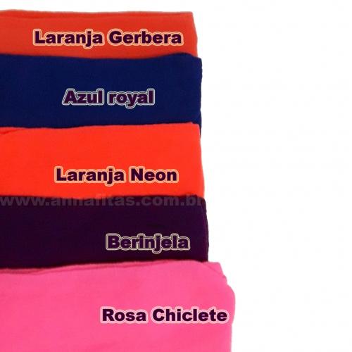 Pacote de Meia de Seda Passo Fofo com 10 unidades 2 Cores de cada : 18-Laranja Gerbera, 10-Azul Royal, 34-Laranja Neon,  32-Beringela e 21-Rosa Chiclete