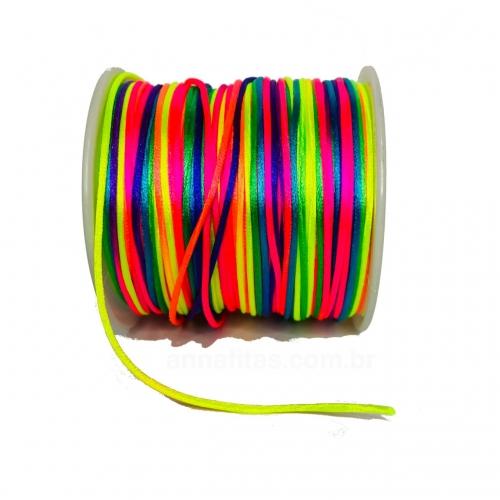 Fio de Seda Rabo de Rato de 1mm com 10 Metros Colorido Ref - FCETI01